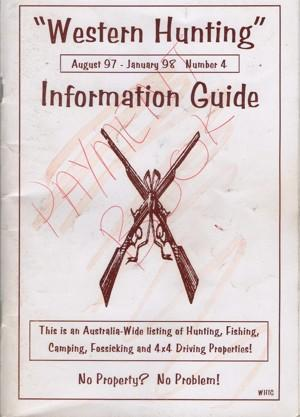 Western Hunting Information Guide 4