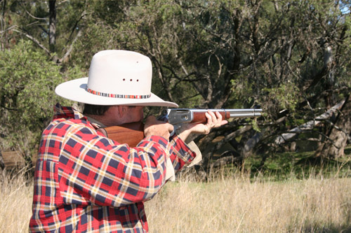 The 30-30 shoots flat to about 170 metres and is a great general purpose scrub rifle