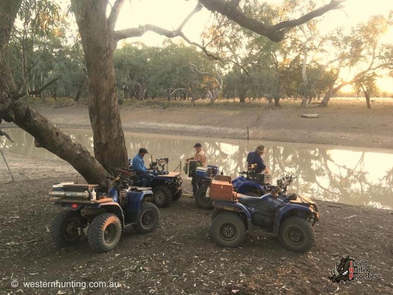 Mitchell Pig Hunting beside Dam