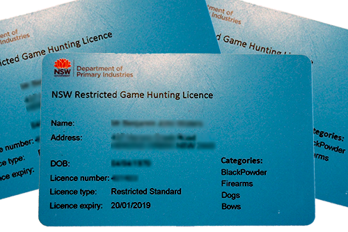 NSW Hunting R Licence