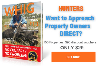 buy the WHIG book and go pig hunting this weekend