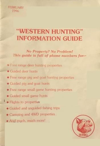 Western Hunting Information guide 2