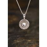 308 Sterling Silver Bullet Head Necklace Bras