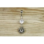 Custom Dangle Bullet Belly Button Ring